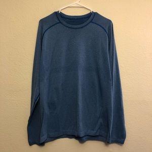 Lululemon Blue Long Sleeve Athletic Shirt Men's L